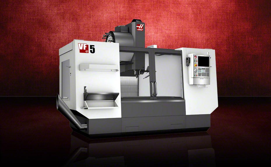 Our newest addition to the shop floor – Haas VF5
