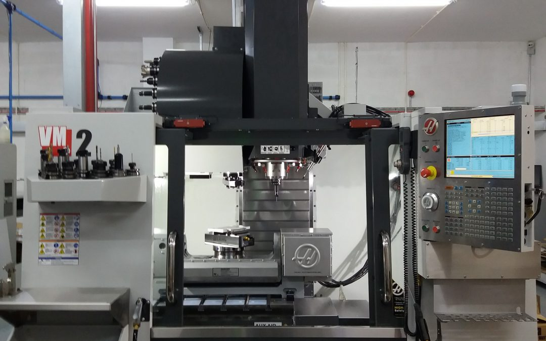 OUR SECOND NEW HAAS 5-AXIS MACHINE HAS ARRIVED !